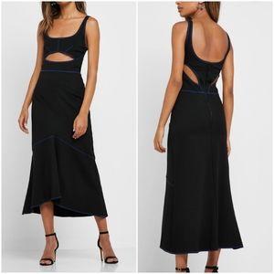 NWOT Topshop Black Contrast Trim Cut Out Dress